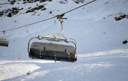 Ski lift on bright winter day Stock Image
