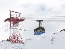 Ski lift cab Stock Photos