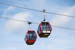 Ski lift cabin Royalty Free Stock Photo
