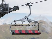 Ski lift cable booth or car Stock Photography