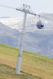 Ski lift cable booth or car Stock Image