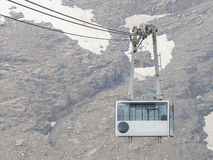 Ski lift cable booth or car Royalty Free Stock Image