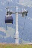 Ski lift cable booth or car Royalty Free Stock Photography