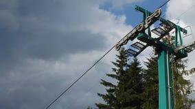 Ski lift stock video