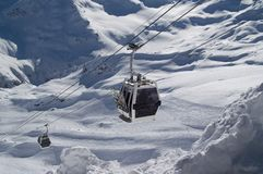 Ski lift. Caucasus. Elbrus Royalty Free Stock Photography