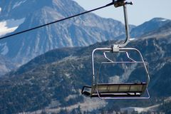 Ski Lift Chair. At Whistler BC Canada during summer months Royalty Free Stock Photography