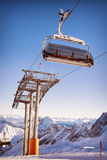 Ski lift chair Royalty Free Stock Photos