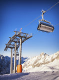 Ski lift chair Royalty Free Stock Images