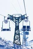 Ski lift chair Royalty Free Stock Photography