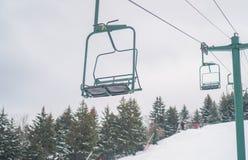 Ski lift chair stock image