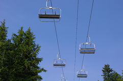 Ski lift , chairlift Royalty Free Stock Photo