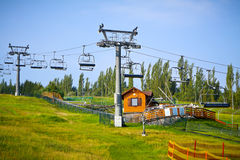 Ski Lift. Chairlift in summer. Royalty Free Stock Images