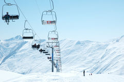 Ski lift chairs Royalty Free Stock Image