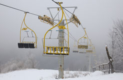 Ski lift chairs Royalty Free Stock Photo