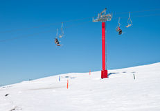 Free Ski Lift Chairs Royalty Free Stock Photography - 26332017