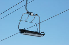Ski lift chairs Stock Images