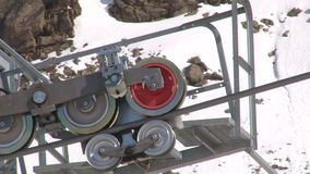 Ski lift detail stock footage