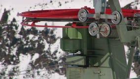 Ski lift detail stock footage