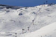Ski-lift di Etna Fotografia Stock