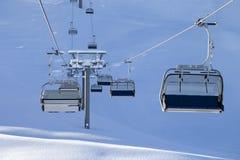 Ski-lift at early morning Stock Image