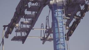 Ski lift element nature stock video footage