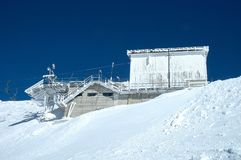 Ski lift end station Stock Photos