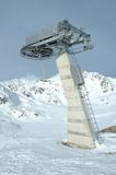 Ski lift end support Royalty Free Stock Photography