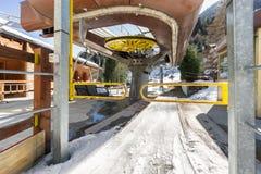 Ski lift entrance Royalty Free Stock Images