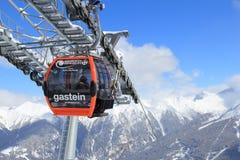 Ski lift in Europe Stock Photo
