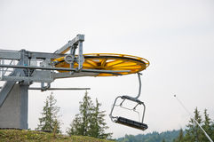 Ski lift in the fall royalty free stock photo