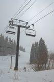 Ski Lift and flurries Stock Image