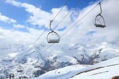 Ski lift in France Royalty Free Stock Image