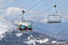 Ski lift in France Stock Image