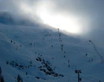 Ski-lift francesi delle alpi Fotografie Stock Libere da Diritti