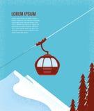 Ski Lift Gondola Foto de archivo