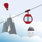 Ski Lift Gondola Photographie stock
