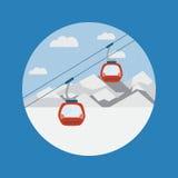 Ski Lift Gondola nas montanhas fotos de stock royalty free