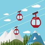 Ski Lift Gondola Stock Photos