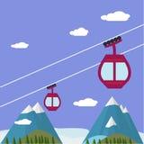 Ski Lift Gondola Snow Royalty Free Stock Photo