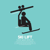 Ski Lift Graphic Symbol Fotos de archivo