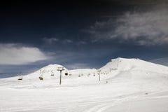 Ski lift. In Gudauri resort - Georgia Royalty Free Stock Images