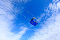 Ski lift high in the sky Royalty Free Stock Image
