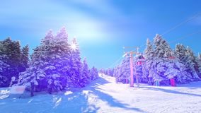 Ski Lift And Holidaymakers metrajes