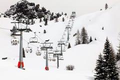 Ski lift in Italy Stock Photos