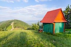 Ski lift on Klimczok mountain Stock Images