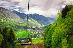 Ski lift in Krajskaja Gora Stock Image