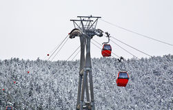 Ski lift in La Massana. Principality of Andorra Stock Image