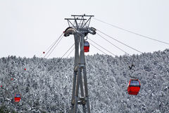 Ski lift in La Massana. Principality of Andorra Royalty Free Stock Images