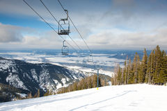 Ski Lift Landscape Royalty Free Stock Images