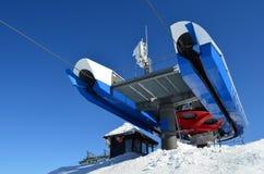 Ski lift last stop Stock Image